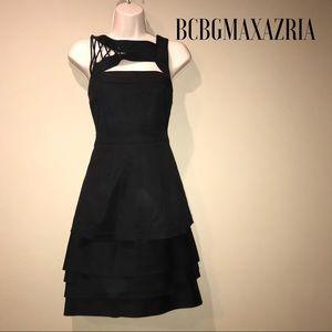 NWT BCBGMAXAZRIA Black Cocktail Dress, size 6